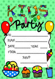 Kids Party Invitation Stock Images