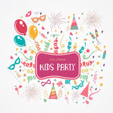 Kids Party Poster, Banner or Flyer design. Royalty Free Stock Photo