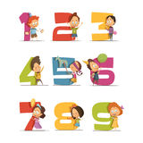 Kids Party Retro Icons Set vector illustration