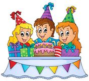 Kids party theme image 1 Royalty Free Stock Image