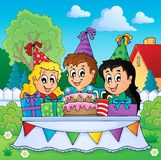 Kids party theme image 3 Stock Image