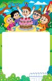 Kids party topic frame 3 Royalty Free Stock Photography