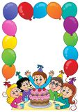 Kids party topic frame 1 Royalty Free Stock Photo