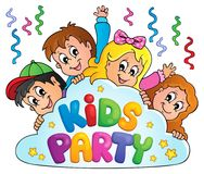 Kids party topic image 8 Stock Photo