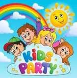 Kids party topic image 9 Stock Image
