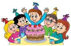 Kids party topic image 1 Stock Photos
