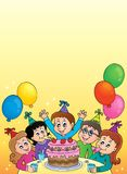 Kids party topic image 2 Royalty Free Stock Photos