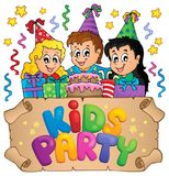Kids party topic image 6 Royalty Free Stock Photo