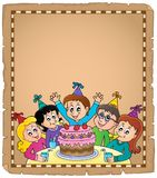 Kids party topic parchment 1 Royalty Free Stock Photo