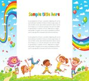 Kids party for web page design vector illustration