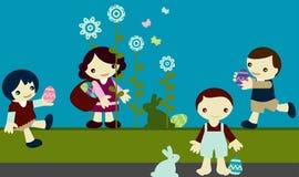 Kids pascua Stock Image