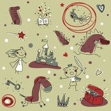 Kids pattern Royalty Free Stock Images