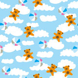 Kids pattern with cloud Stock Images