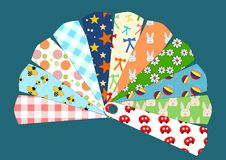 Kids patterns chart Stock Image