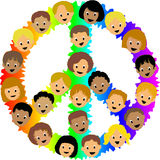 Kids Peace Sign/eps Stock Images