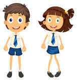 Kids with pencil Royalty Free Stock Image