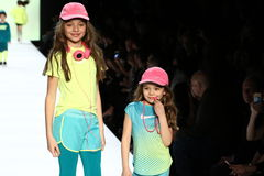 Kids perform on the runway during Rookie USA Presents Kids Rock! Fall 2016. NEW YORK, NY - FEBRUARY 11: Kids perform on the runway during Rookie USA Presents Stock Photos