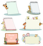 Kids and pets banner Stock Photos