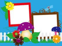 Kids photo frame Stock Photography