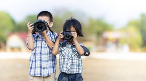 Kids photographer Royalty Free Stock Images