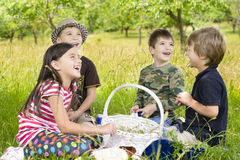Kids Picnic Stock Images