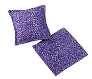 Violet cushion pillow and case isolated  Royalty Free Stock Photography