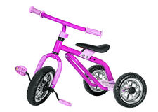 Kids pink tricycle Royalty Free Stock Image