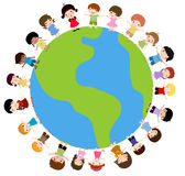 Kids and planet earth Royalty Free Stock Image