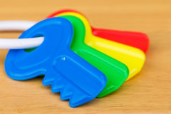Kids Plastic Colorful Keys Royalty Free Stock Images