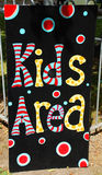 Kids Play Area sign Royalty Free Stock Image