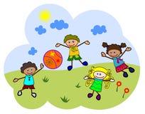 Kids play ball Stock Image