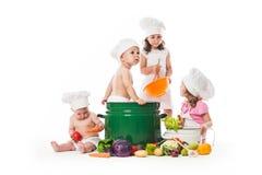 Kids play cook Stock Photos