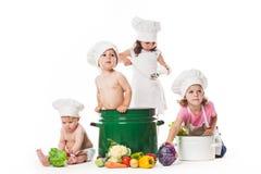 Kids play cook Royalty Free Stock Photos