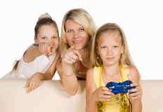 Kids play game Stock Images