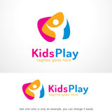 Kids Play Logo Template Design Vector Royalty Free Stock Photo