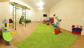 Kids play room with toys. Interior. Royalty Free Stock Photos