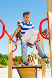 Kids on the playground Royalty Free Stock Image