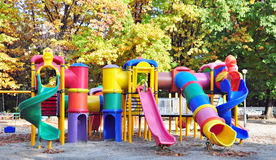 Kids playground. Placed in a park Royalty Free Stock Image
