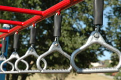 Kids Playground 3. Close up of monkey bars in playground Stock Photos