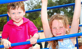 Kids on Playground Stock Image