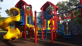 Kids& x27; Playground. Brightly colored playground at the Park Royalty Free Stock Image