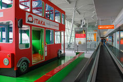 Kids playground-bus in Warsaw Chopin Airport, Poland Stock Photos