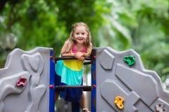 Child on school playground. Kids play. Stock Image