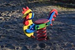 Kids Playground. Element of a kids playground in Gdansk-Przymorze, Poland Stock Image