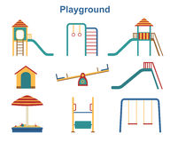 Kids playground elements. Stock Photography