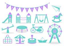 Kids Playground icons Stock Photos