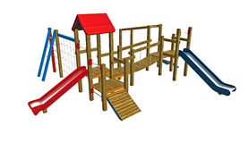 Kids playground illustration Royalty Free Stock Image