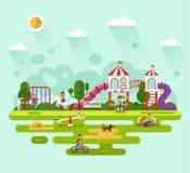 Kids playground illustration Stock Photography
