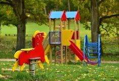 Kids Playground In Autumn Stock Photography