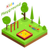 Kids playground isometric flat vector Stock Photography